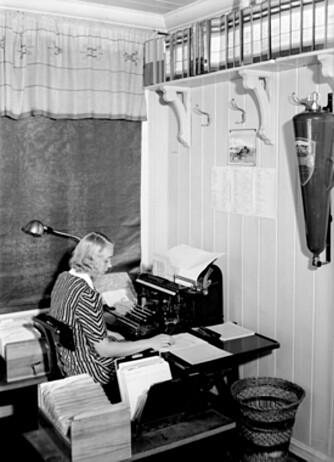 Illegal presse: Inger-Johanne Kolberg skrev tekster til den illegale avisen «Den andre front» under krigen.