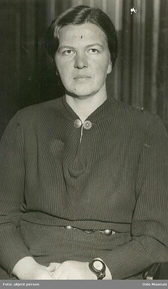 Motstandskvinne: Helga Stene ble tatt inn til avhør hos Gestapo for å ha drevet antinazistisk propaganda i skolen.