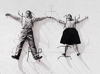 LEKNE DESIGNERE: Charles og Ray Eames tegnet noe av det beste verden har sett av møbler.