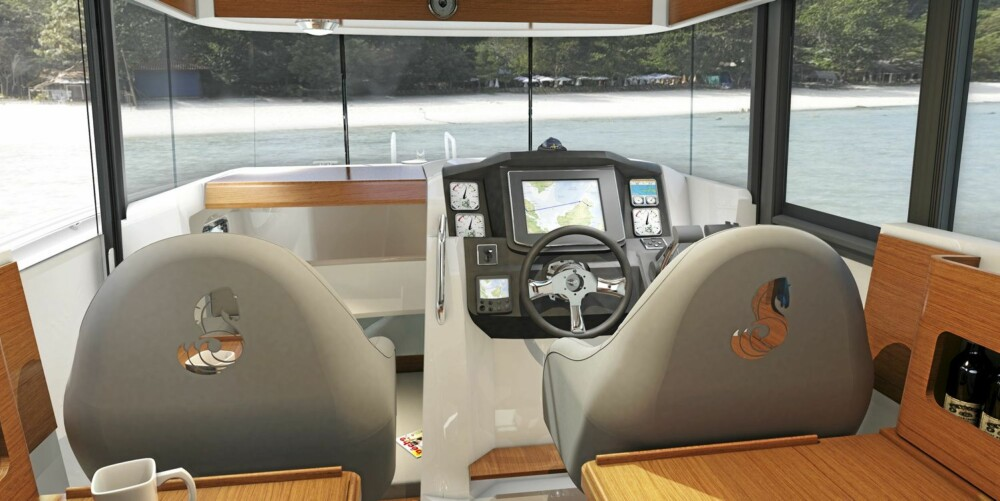 SIKT: Som med andre styrehusbåter skal det bli rikelig med utsikt her også.