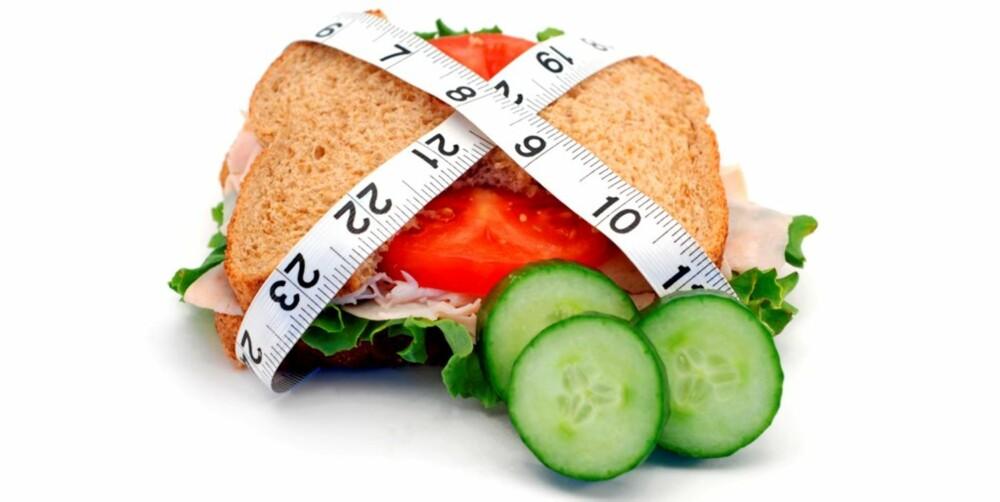 SLANKESANDWICH: Grovbrød med kalkun og lavkarbogrønnsaker.