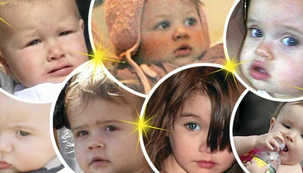 SUPERSTJERNEBABYER: De er født inn i berømmelsen, disse småtassene. Men hvem har de arvet utseendet fra?