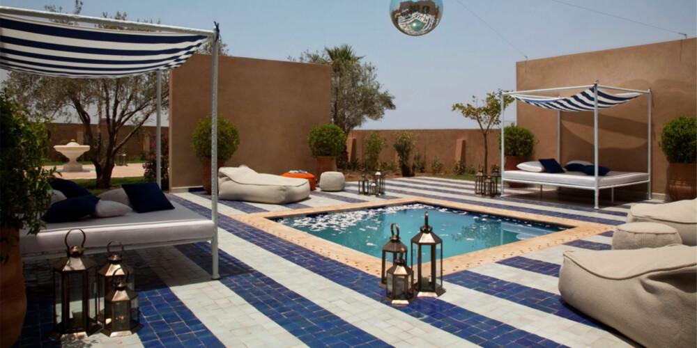 HOTEL BAGLIONI: Du finner mange lekre boutique hoteller i Marrakech, ett av dem er Baglioni Hotel.