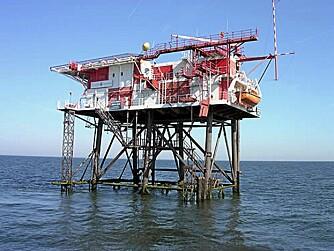 PIRATER: Denne plattformen ble bygget i 1963 som en piratstasjon for kringkasting. I dag en god restaurant. Foto: