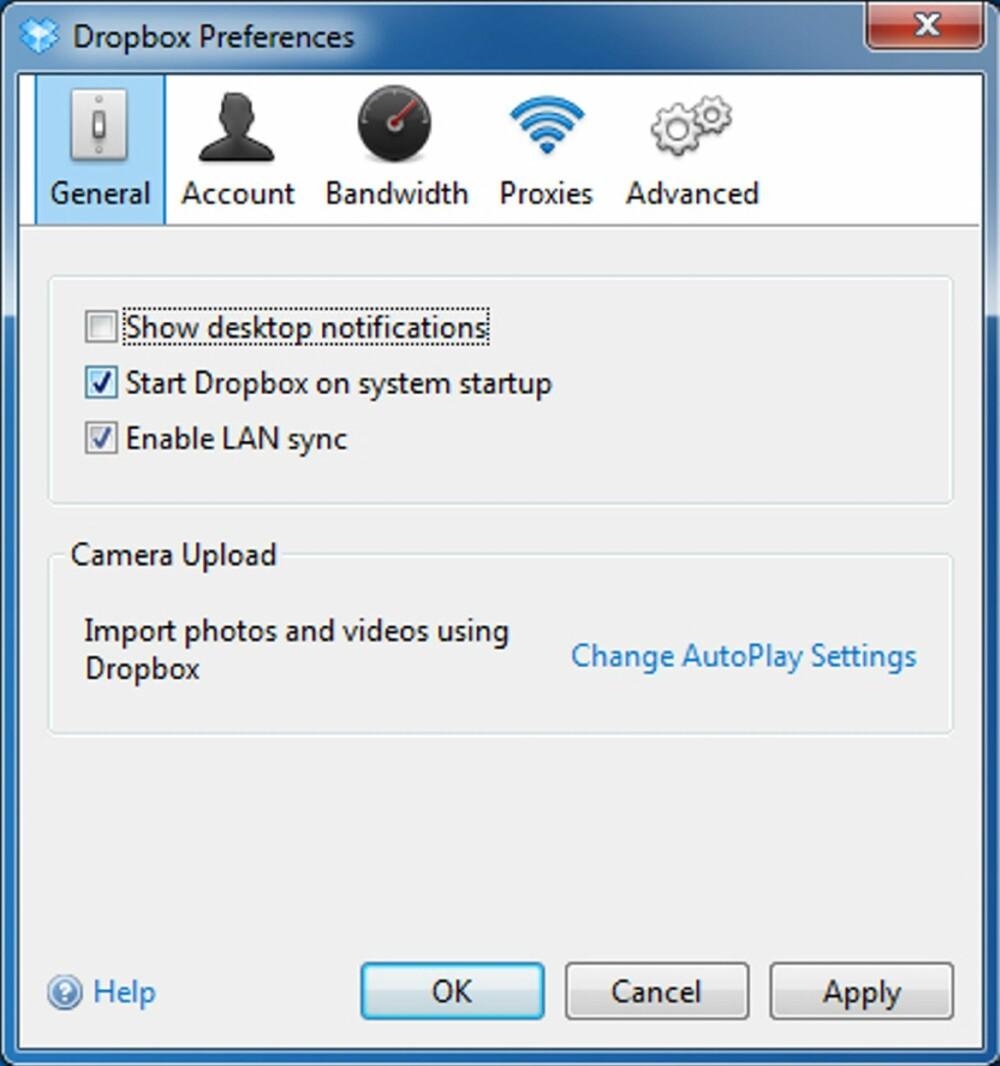 1. LAN-SYNC: Når du installerer Dropbox på to PC-er, vil innholdet i Dropbox-en din synkroniseres mellom de to PC-ene helt automatisk - over internett. Det kan ta litt tid dersom det dreier seg om store mengder data, og det er unødvendig dersom de to PC-ene befinner seg på samme nettverk. Derfor bør du aktivere såkalt LAN-Sync.