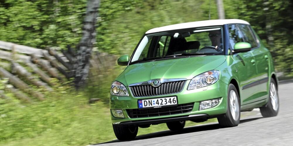 GTI: Med normalt understell, TSI-motoren og små hjul, oppfører Fabia seg nesten som en gammeldags GTI-bil.