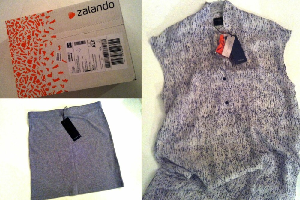 ZALANDO: Zalandos esker er lett gjenkjennelig med logo og oransj mønster. Innpakningen er enkel, ikke noe fiksfakseri.