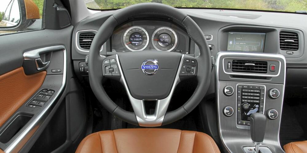 Førermiljøet i Volvo S60 gir en god kvalitetsfølelse.