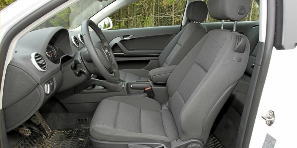 Gode standardseter også i Audi A3 1,6 TDIe.
