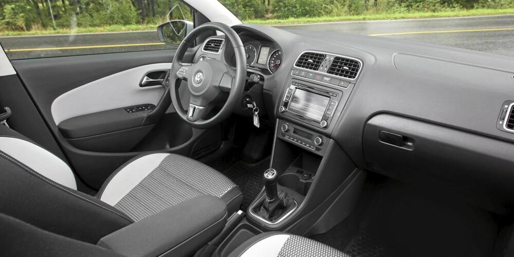 VELKJENT: Interiøret er som i de fleste andre VW-modeller: Logisk, solid og komfortabelt.