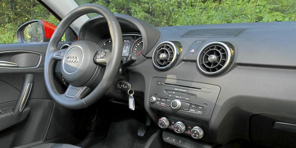Selv i lille A1 er det god opplevd Audi-kvalitet.