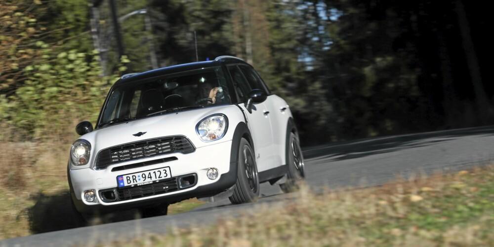 Mini Countryman har de beste veiegenskaper i klassen for små crossovermodeller.