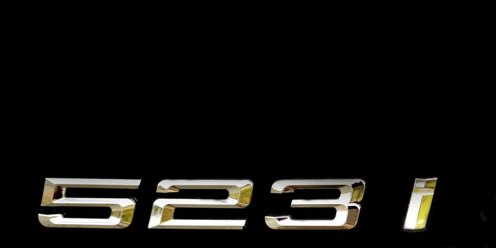 TALLENE LYVER: 523i har nemlig treliters motor. Effekten er 204 hk, dreiemomentet 270 Nm.