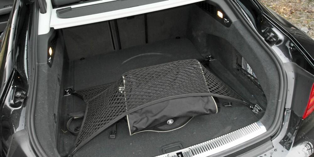 Med stor bakluke har Audi A7 Sportback fleksible lasteegenskaper.