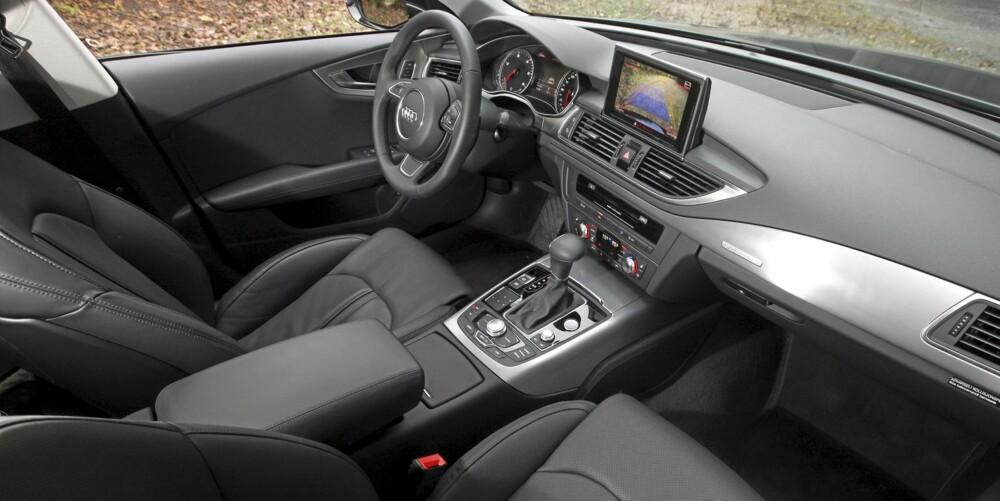 Innvendig holder Audi A7 Sportback kveldskurs i kvalitetsmessig interiørdesign.