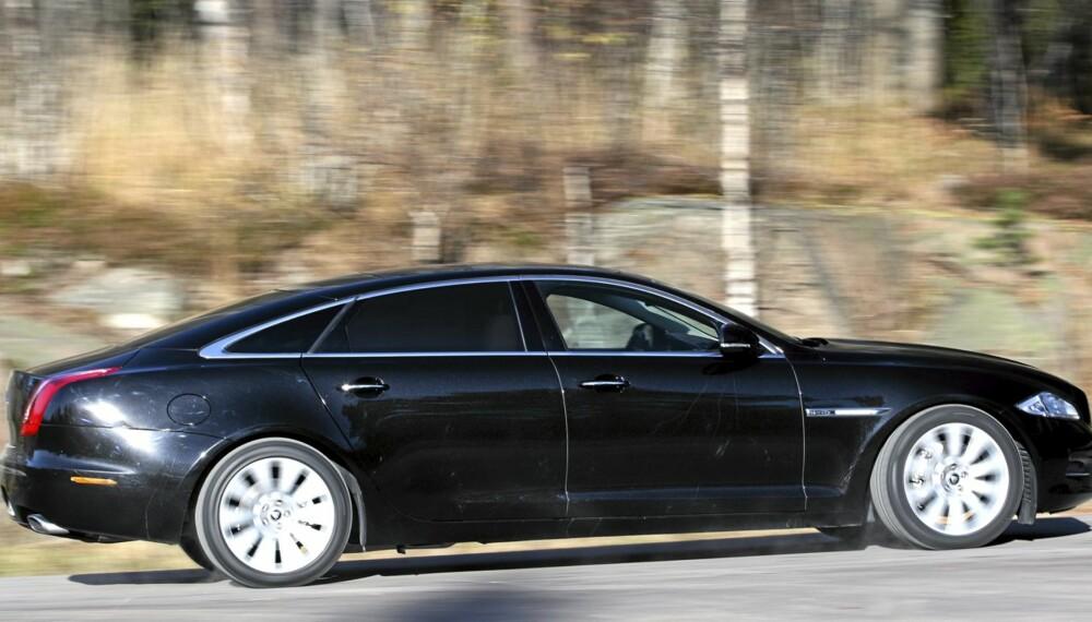 NESTEN LIMOUSINE: Med en lengde på 5,25 m ruver Jaguar XJ LWB godt i landskapet.
