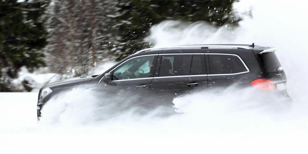 SEIERHERRENE: Mercedes er best på akselerasjon i løs snø. FOTO: Egil Nordlien, HM Foto