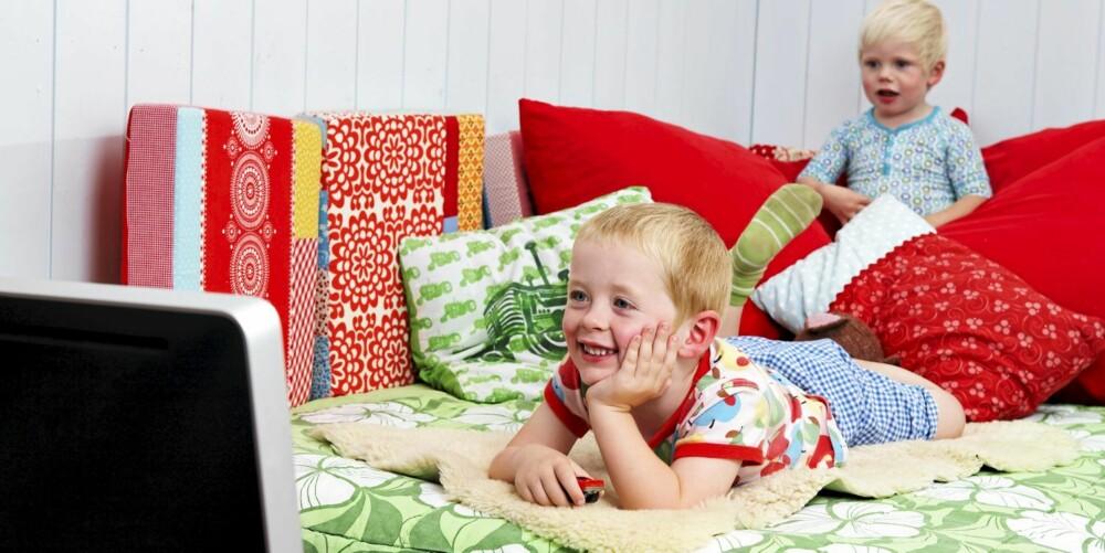 KOSEKROK: Siden Frithjof og Tellef deler rom, får familien frigjort et rom de bruker som filmrom, kosekrok og kontor.