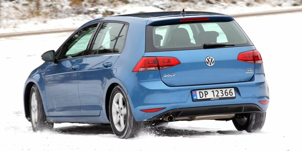 HELLER BENSIN: Vil du heller ha Golf, anbefaler 1,4-liters bensinmotor i stedet for 105 hk diesel. FOTO: Petter Handeland