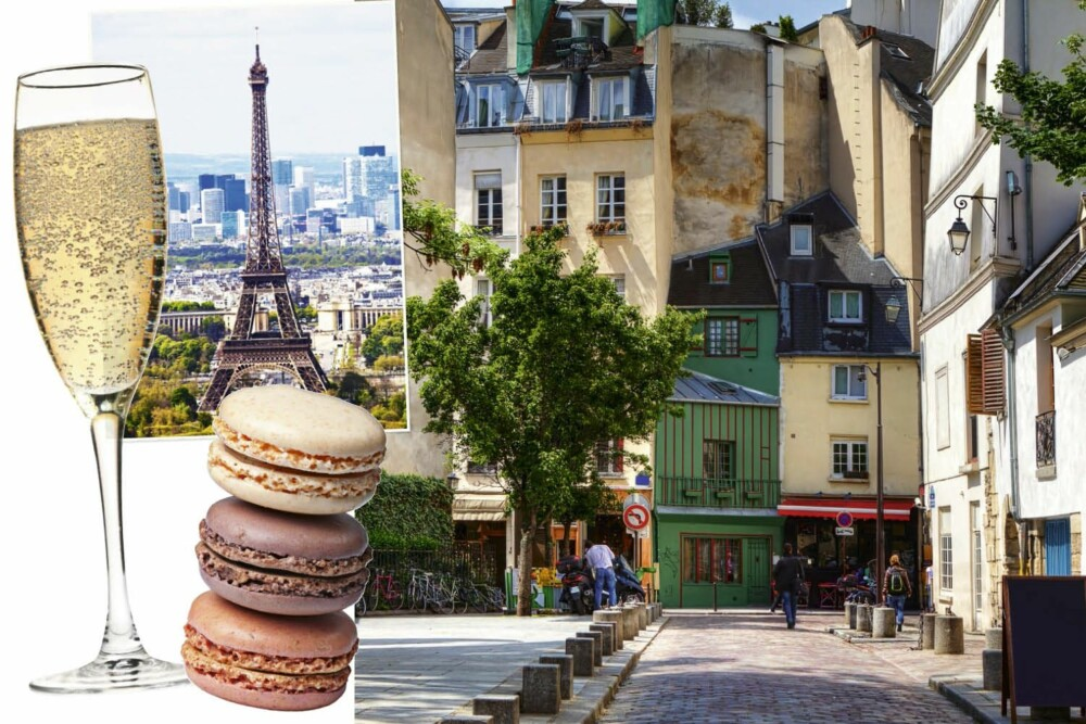 Le Marais er et av Paris' hyggeligste områder. Sett deg ned på en kafé og nytt et glass chamoagne og en makron!
