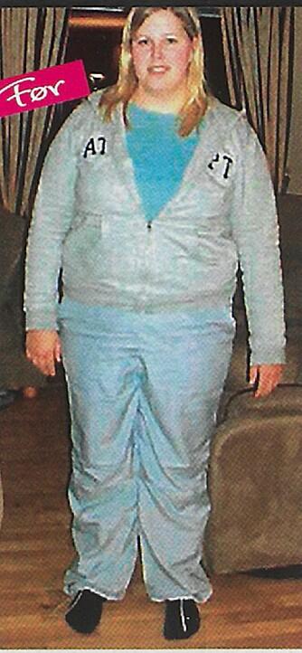 FØR: I 2006 veide Vibeke 107 kilo.