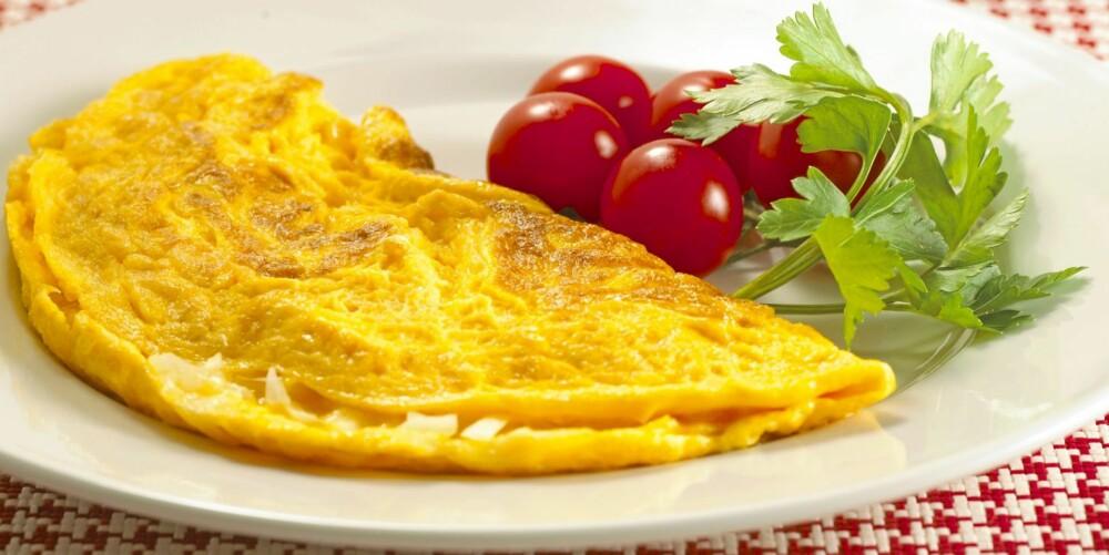 EGG: En omelett er mettende og enkelt.