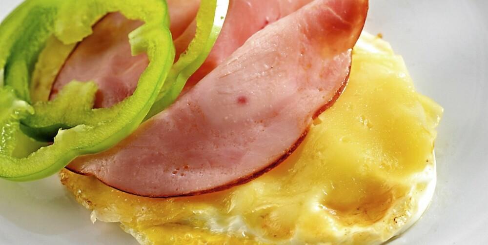 LAVKARBO: Et stekt egg kan brukes som skive.
