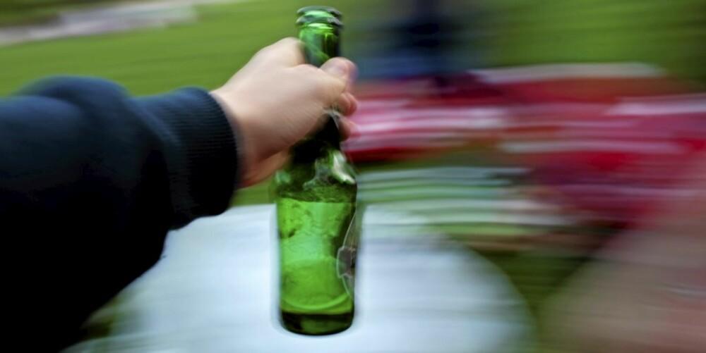FOR MYE?: Hvis verden begynner å se slik ut når du drikker, kan det være fare for fyllenerver dagen derpå.
