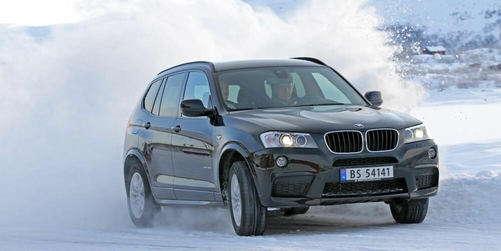 GOKARTEN: BMW X3 er uten tvil gokarten av de tre, men er også den bilen som lar deg føle de brå ujevnhetene. FOTO: Petter Handeland
