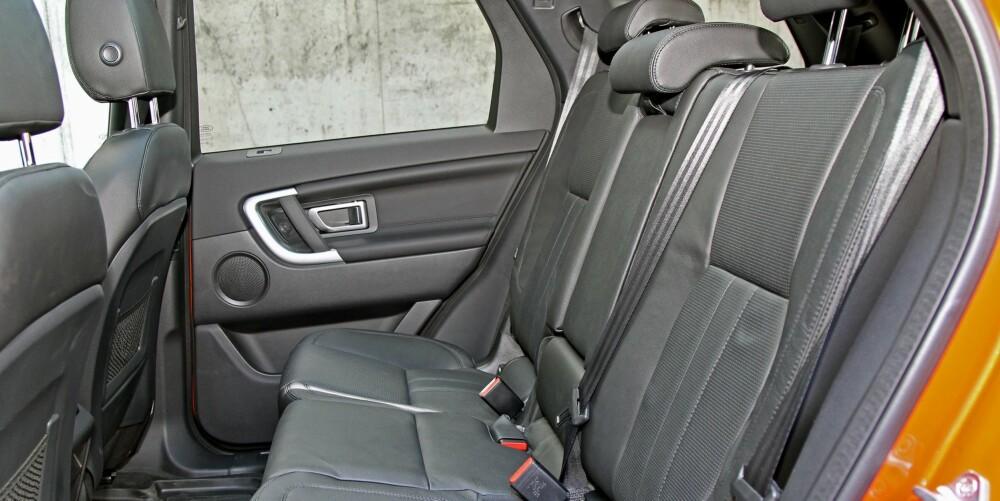 GOD PLASS: Plassforholdene er blant de beste i klassen. Benplassen og kupebredden er bedre enn for eksempel BMW X3, og faktisk på nivå med stor-SUVen Mercedes ML.