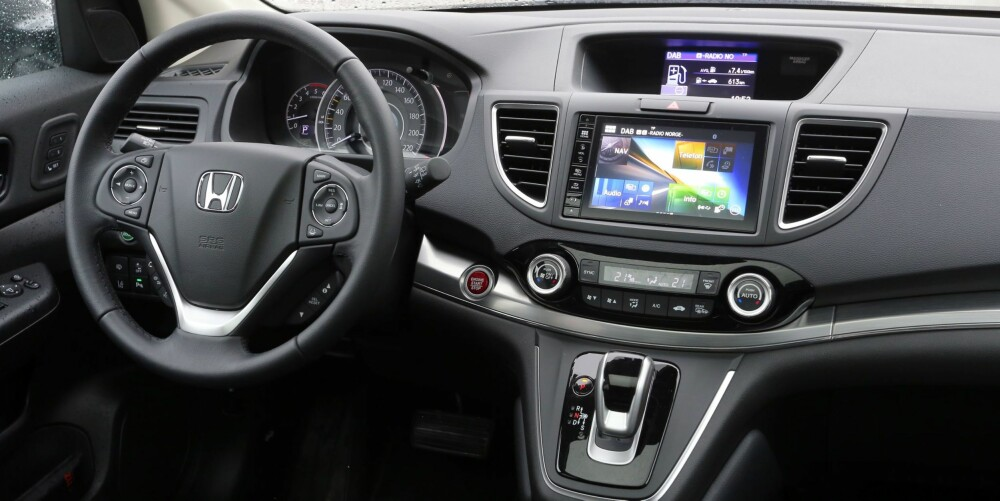 FIFFET OPP: Innvendig virker Honda CR-V 4WD mer moderne enn før faceliften.
