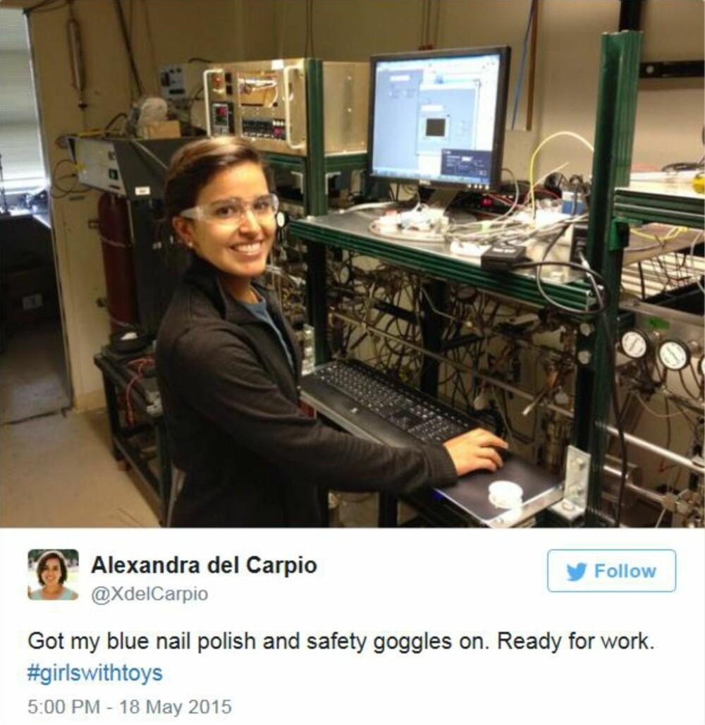 PÅ JOBB: Alexandra del Carpio er klar til å starte dagen.