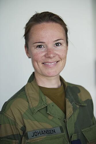 LINN THERECE JOHANSEN: Major og talsperson for forsvarssjefen.