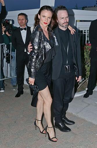 HØYT PÅ STRÅ:  Juliette Lewis fotografert for et par dager siden i Cannes. Iført de obligatoriske høye hælene.