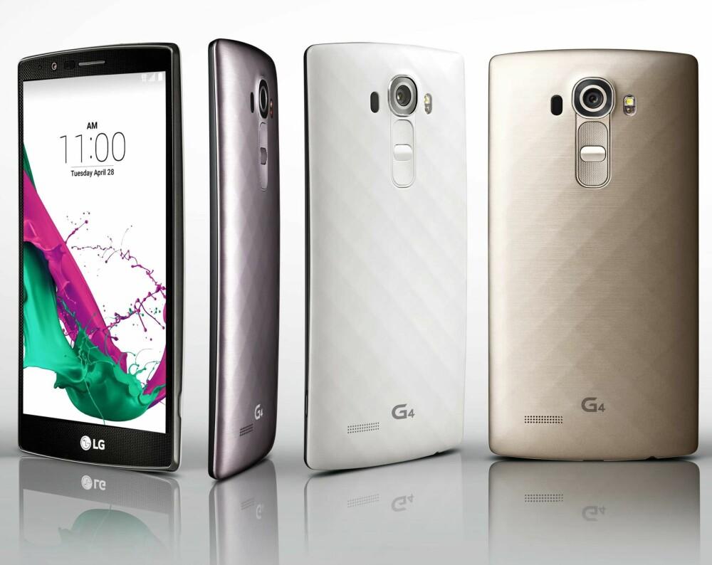 METALL: Selv om LG nok er mest stolt av skinn-varianten av G4, så får du den også med metallbakplate.