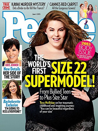 "Tess Holliday pryder coveret av People Magazines ""Body Issue 2015"" som kommer ut 1. juni."