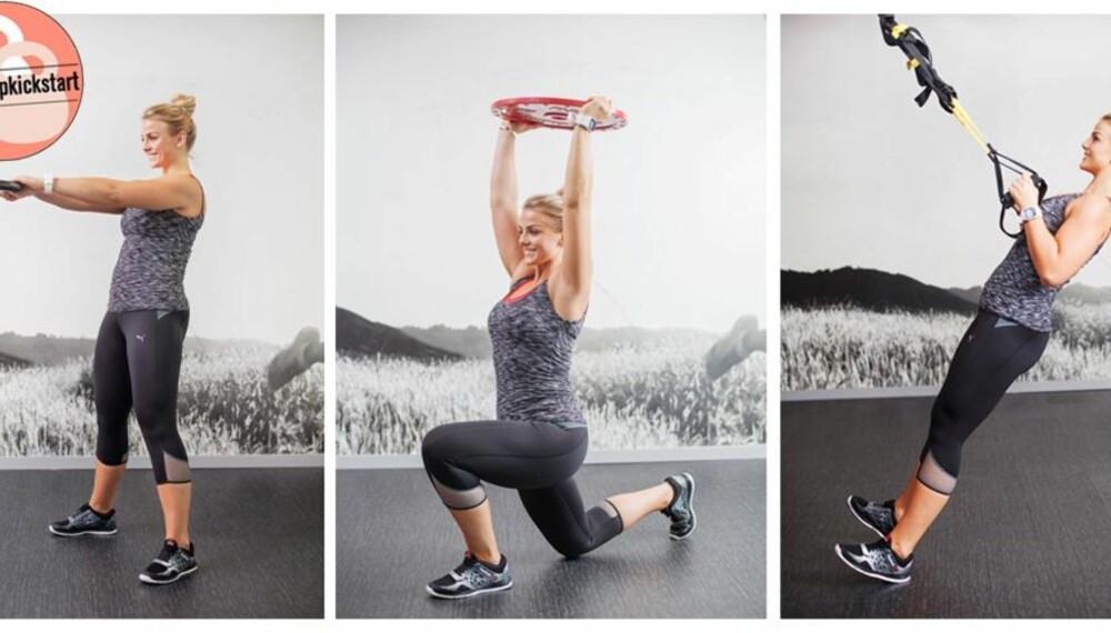 TREN RUMPE OG LÅR: I dette programmet har PT-Pia fokus på øvelser som trener rumpe og lår.