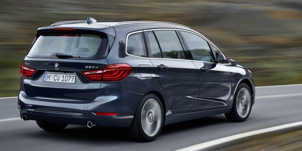 UNNTAK: Før sa BMW at forhjulsdrift ikke passet i deres biler, men 2-serie Gran Tourer er det andre unntaket fra denne regelen på kort tid (det første var 2-serie Active Tourer). Du kan imidlertid få den med firehjulsdrift i utgaven 220d xDrive, men da må du nok ha en del penger på lur. FOTO: BMW