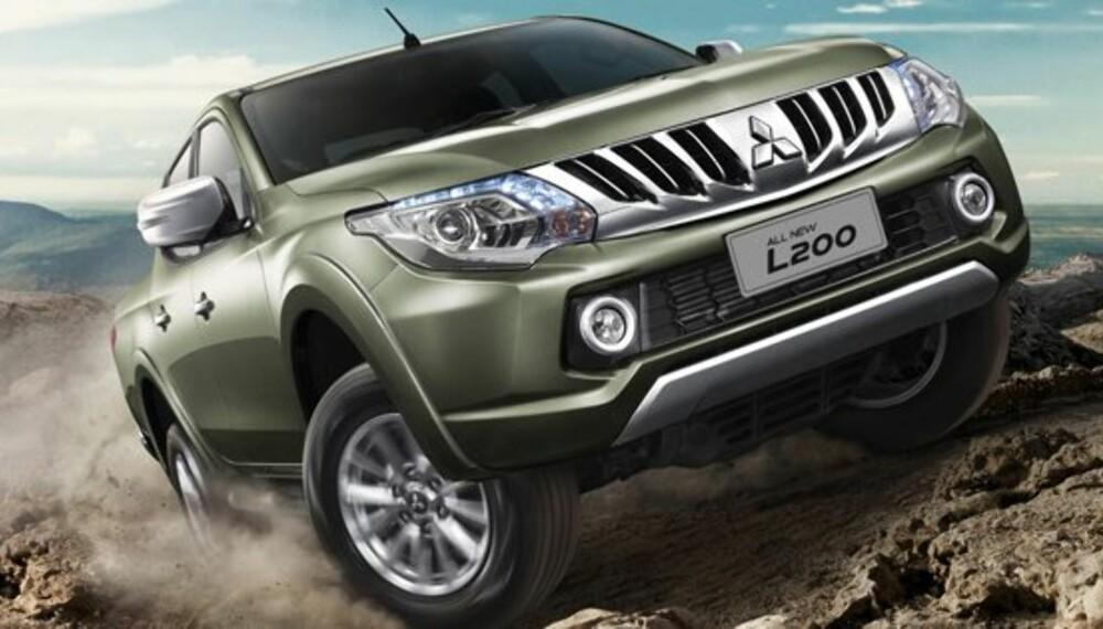 TÅLER EN TRØKK: Mitsubishi kommer snart med en helt ny versjon av pickupen L200.