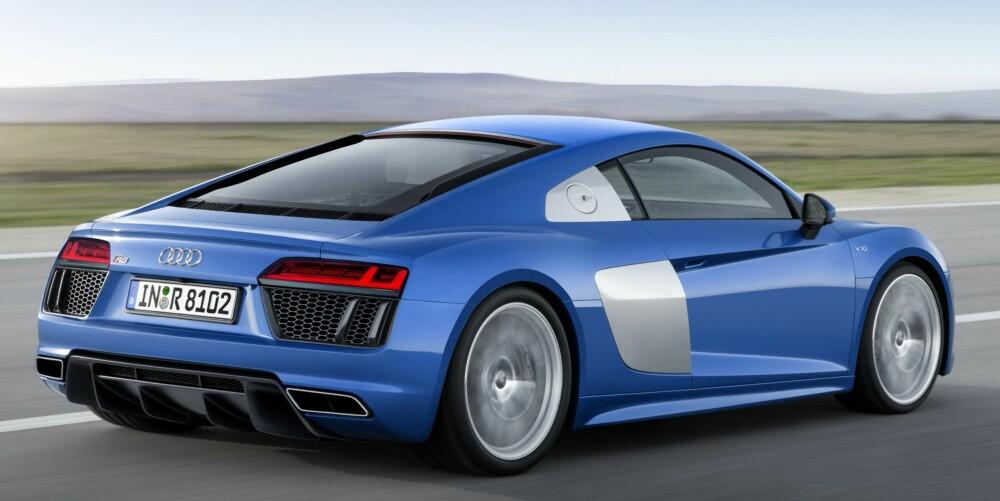 """""""BILLIGALTERNATIVET"""": Versjonen som ikke har tilnavnet """"plus"""", har 540 hk. Flere versjoner vil følge seinere. FOTO: Audi"""