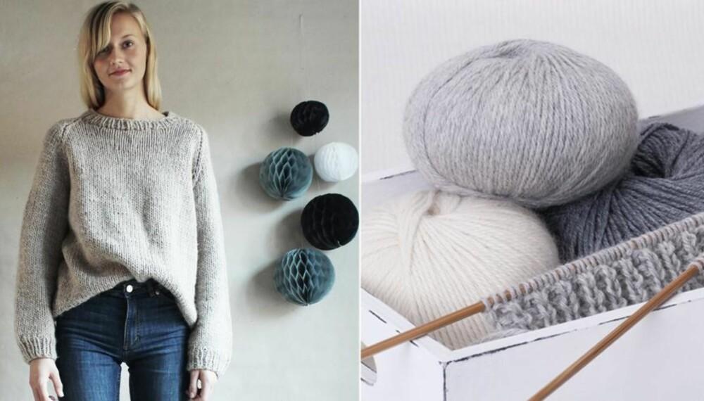 7c4844d6 TRENDY STRIKKEGENSER: Finn frem strikkepinner og garn, og du kan strikke  deg en kul