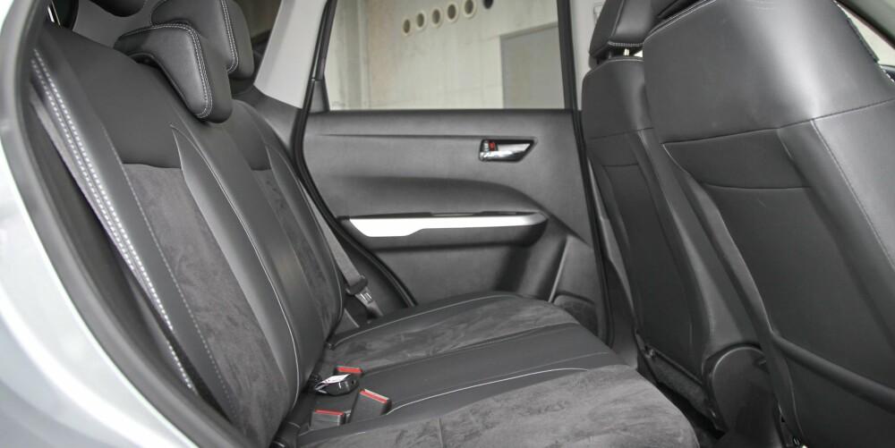 FORNUFT: God plassutnyttelse er en av flere gode fornuftssider ved Suzuki Vitara.