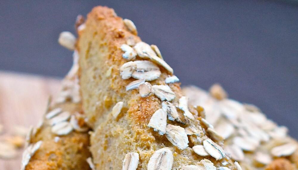 DIGGE SCONES: Sunne havre- og mandelscones er rike på proteiner og fiber.