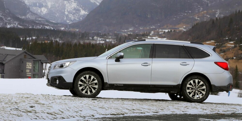 SER BEDRE UT: Subaru har ryddet opp i linjene på sin nye Outback-modell. Bakkeklaringen er hele 20 cm.