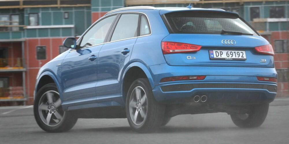 KORT OG HØY: Verken når det gjelder veiegenskaper eller utseende regner vi Q3 blant de mest vellykkede Audi-modellene. FOTO: Terje Bjørnsen