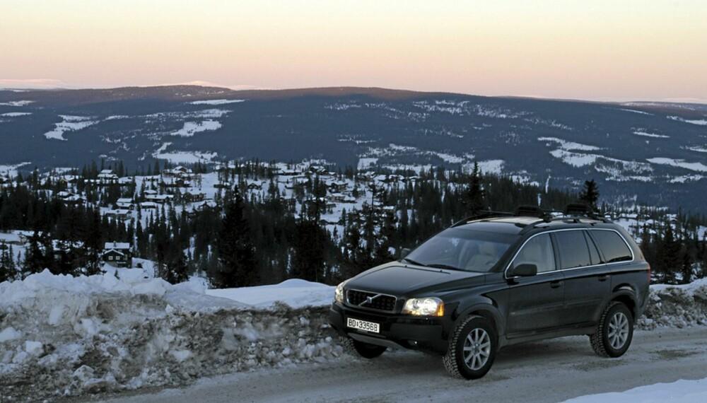 En Volvo XC90 er som skapt for vinterbruk i Norge