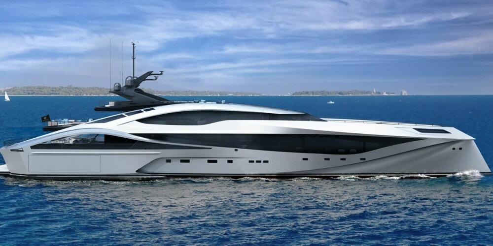 SKJULT: Skipskonstruktørene valgt å legge ankeret skjult under vannlinja forut.