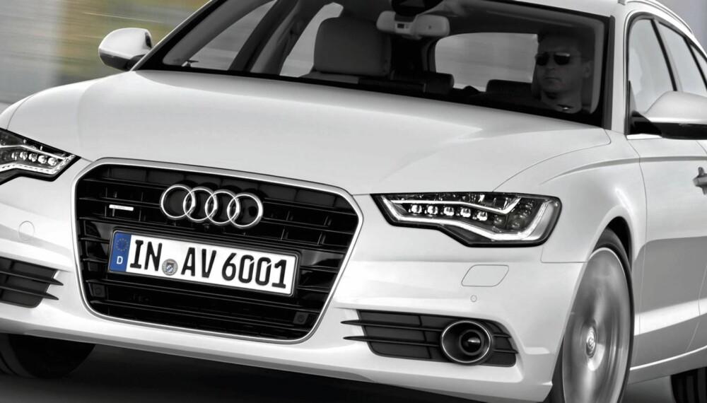 NYE A6: Totalvekten er redusert med opp til 70 kg sammenlignet med forrige generasjon. 17- tommers aluminiumsfelger, elektromekanisk styring, start/stopp-system og Audi drive select er blant standardutstyret.