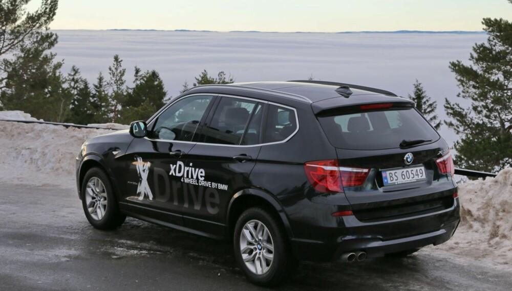 PÅ TOPPEN: BMW X3 xDrive 30d koster mer enn de rimeligste modellene, men så får du godt betalt i form av nydelige egenskaper.