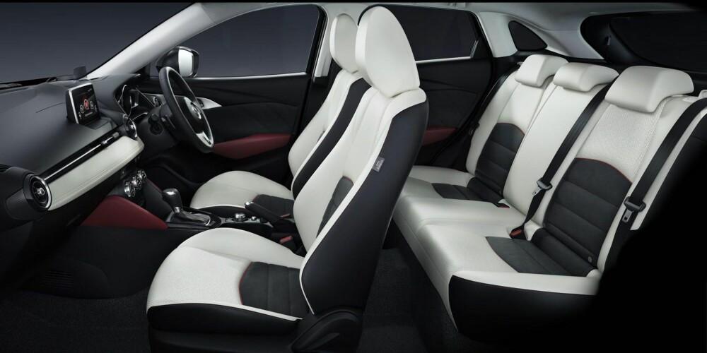 PLASS NOK?: Det blir spennende å se hvor godt Mazda har utnyttet plassen i CX-3, som ser veldig kompakt ut på eksteriørbildene.
